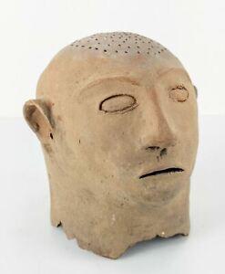 Antique Pacific Tribal Oceania Philippines Pottery Maitum Burial Head Figure