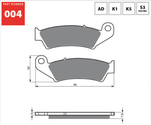 Front Sintered Brake Pads Fits HONDA NX250 1988 1989 1990 1991 1992 1993 SF7