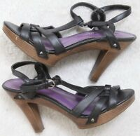 Black Heels 7.5 Women's Madden Girl Woman Seven 1/2 Dress Open Toe Prom Solid
