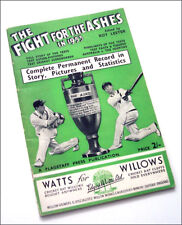 THE FIGHT FOR THE ASHES - 1953 England Vs Australia cricket Test Matches booklet