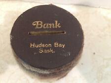 Vintage Hudson Bay Handmade Coin Bank