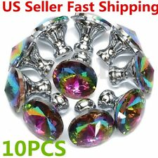 10pcs 30mm Crystal Glass Cupboard Cabinet Wardrobe Knobs Drawer Door Handle Pull