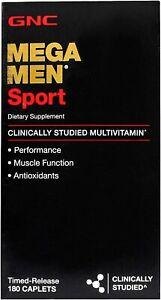 Gnc Mega Men Sports  Multivitamin 180 Caplets Free Shipping