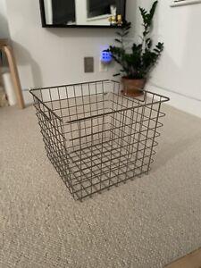 CRATE & BARREL Wire Basket Square