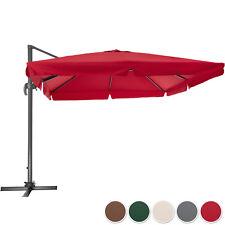 Parasol déporté de jardin 3x3m rectangulaire mât aluminium protection UV 50+