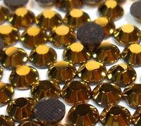 1500 Hotfix Strasssteine 2mm GOLD GLAS STRASS Bügelsteine Glitzersteine 3