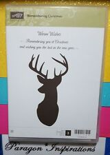 NEW NUM Stampin Up Clear REMEMBERING CHRISTMAS Deer Buck Silhouette Warm Wishes
