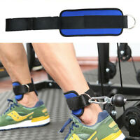 Heavy Duty Foot Ankle Strap Strength Training D-ring Cable Machine Fitness Gym