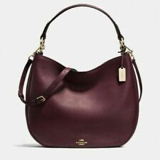 COACH Nomad Mae Leather Crossbody Oxblood 54446 MSRP $395