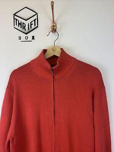 HACKETT LONDON, Mens Size M, Red, Medium Knit, Zip Thru Jumper,*EX COND*