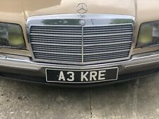 A3 KRE cherished private personal number plate dateles short gold platinum gift