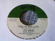 Joe Simon 45 Glad to Be Your Lover/Pool of Bad Luck Spring 124 70s Soul Funk