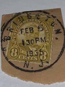 Ulysses S.grant Sc#560 olive green Bridgeton NJ Feb.5 130pm 1935 bullseye cancel