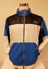 Vtg North Face Windbreaker Shell Jacket light packable Hooded Shiny Color Block