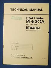 ROTEL RT-830A L TUNER OWNERS MANUAL FACTORY ORIGINAL THE REAL THING