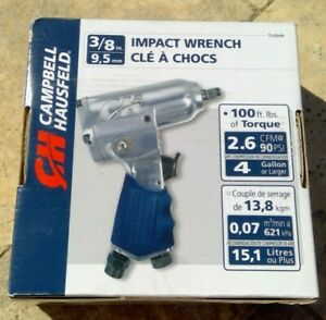 """🌟🎈 Campbell Hausfeld TL0549 3/8"""" Air Impact Wrench 100 ft-lbs of Torque 🌟"""