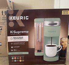 Keurig K-Supreme Single Serve Coffee Maker Silver Sage Pastel Mint Green