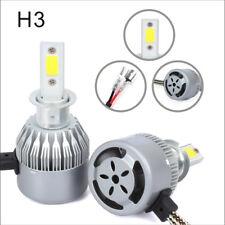 C6 H3 LED Car Fog Headlight Kit COB 60W Bulbs 6400LM Light Waterprooof New 2pcs