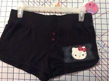 Size Girls M(7/9) HELLO KITTY Black Shorts   NEW
