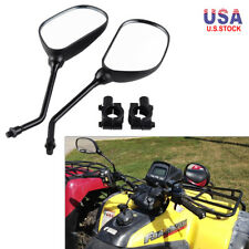 10mm Rear View Mirror with Adapter Clamp Mount Complete Pair Set Kit for ATV UTV