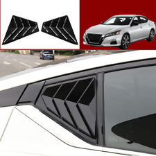 For Nissan Altima 2019 Rear Window Side Louvers Vent trim Black Accessories