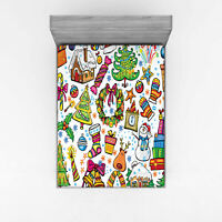 Festive Christmas Fitted Sheet Cover with All-Round Elastic Pocket in 4 Sizes