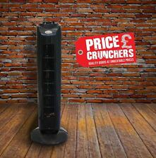 """Black Oscillating Air Cooling Tower Fan 120Min Timer Silent Home Office 29"""""""