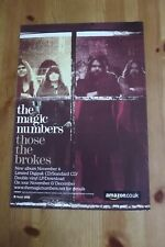 THE MAGIC NUMBERS - THOSE THE BROKES - ADVERT 20.5 x 29.5cm.
