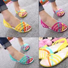 Womens Slip On Sandals Soft Footbed Flat Sandals Comfy Shoes UK Size 2-7 Summer