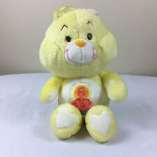 "A59 Vintage Care Bears Yellow Birthday Bear Plush 12"" Stuffed Toy Lovey"
