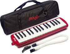 NEW Stagg Melosta Red Alto Melodion Melodica M 32 Key Case, Mouthpiece