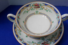 ROYAL DOULTON THE LORETTE  SOUP CREAMER WITH PLATE    EXCELLENT