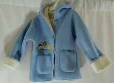 Piyo Piyo Fleece Lined Hoded Jacket Baby Blue Toddler Coat/Jacket 4T Vintage