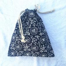 1pc Cotton Linen Drawstring Sorted Organiser Party Gift Bag Traditional Blue Pri