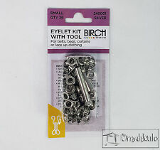 BIRCH - Eyelet Kit with Tool - Small - 36 Qty - SILVER