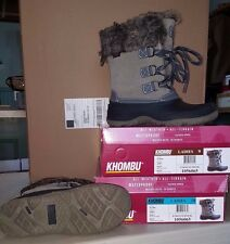 KHOMBU Ladies Grey SLOPE Winter Boots   All Weather & Terrain Waterproof Size 8
