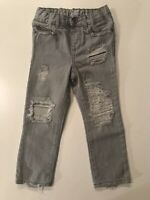 CUSTOM DISTRESSED RIPPED THE CHILDRENS PLACE SKINNY JEANS GRAY SIZE 3T