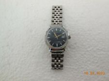 vintage mens timex marlin date watch water resistant blueface fully working