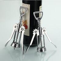 Stainless Steel Metal Wine Corkscrew Bottle Handle Opener Corkscrews