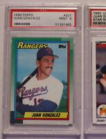 1990 Topps Juan Gonzalez #331 PSA 9 Rookie!