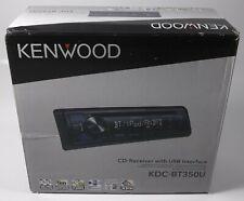 KENWOOD KDC-BT350U Single-DIN In-Dash CD Receiver with Bluetooth Ready USB NEW
