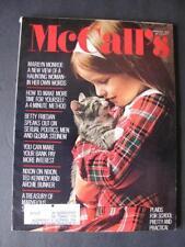 1972 McCall's Magazine Haunting Marilyn Monroe In Her Own Words Nixon Kennedy+