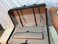 Brown  Leather Satchel Dr Bag Doctor Luggage Suitcase Compartment  Vintage 1930s