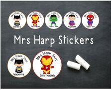 Extra Super Hero Personalised Teacher Stickers