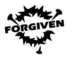 Forgiven...Unique Vinyl Graphic Decal Car Auto Window Bumper Sticker
