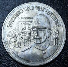 1976 SOUVENIR OF EDMONTON KLONDIKE DAYS TOKEN - 'Gold Rush' Constable - 40mm Dia