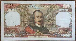 Billet de 100 francs CORNEILLE 5 - 8 - 1976 FRANCE  C.995