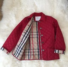 AUTHENTIC BOY GIRL BURBERRY KIDS RED NOVA CHECK JACKET COAT 10Y 12Y