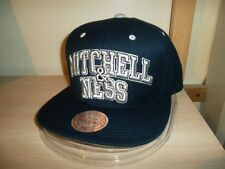 MITCHELL & NESS  BLOCK LETTER BASEBALL CAP/HAT SNAPBACK NAVY BLUE-GRAY/NEW!!!