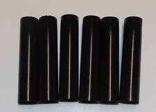"SET OF 6, 4"" TALL BLACK PLASTIC CANDELABRA SOCKET CHANDELIER COVERS 50297JQ"
